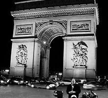 Arc de Triomphe at Night (Paris, France) by Britland Tracy