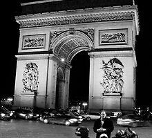 Arc de Triomphe at Night (Paris, France) by Britland Tracy
