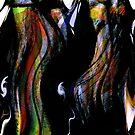 """kage"" geisha.... a dancing screen by banrai"