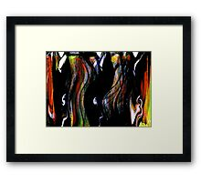 """kage"" geisha.... a dancing screen Framed Print"