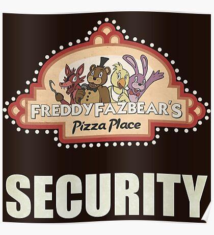 Five Nights at Freddy's - FNAF - Freddy Fazbear's Security Logo Poster