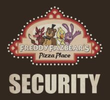 Five Nights at Freddy's - FNAF - Freddy Fazbear's Security Logo by Kaiserin