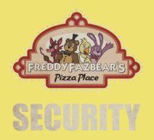 Five Nights at Freddy's - FNAF - Freddy Fazbear's Security Logo One Piece - Short Sleeve