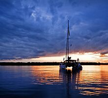 As the Sun Sinks Slowly into the West - South Stradbroke Island by Beth  Wode