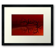 """Silhouettes in the Mist"" Framed Print"