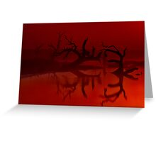 """Silhouettes in the Mist"" Greeting Card"