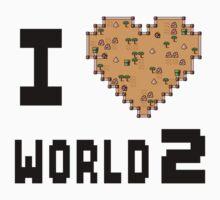 I Heart World 2 Kids Tee