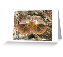 Frilled not to be Grilled Lizard Greeting Card