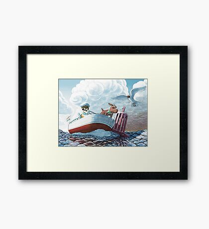 old sea dogs Framed Print