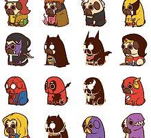 Puglie Heroes & Villains by Puglie  Pug