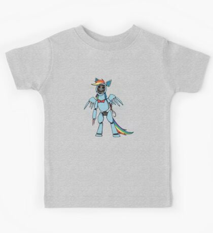 My Little Pony - MLP - FNAF - Rainbow Dash Animatronic Kids Tee