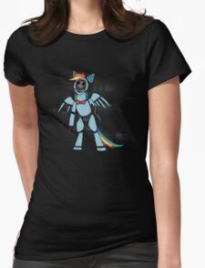 My Little Pony - MLP - FNAF - Rainbow Dash Animatronic Womens Fitted T-Shirt