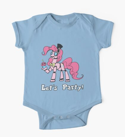 My Little Pony - MLP - FNAF - Pinkie Pie Animatronic One Piece - Short Sleeve