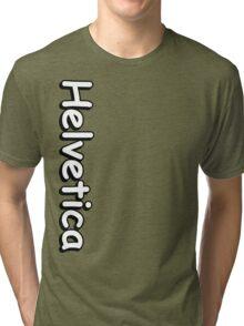 Helvetica hell Tri-blend T-Shirt
