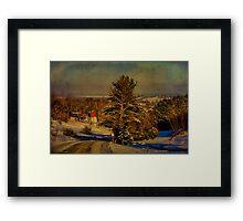 Rural Winter In Vermont Framed Print