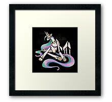 My Little Pony - MLP - FNAF - Princess Celestia Animatronic Framed Print