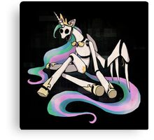 My Little Pony - MLP - FNAF - Princess Celestia Animatronic Canvas Print