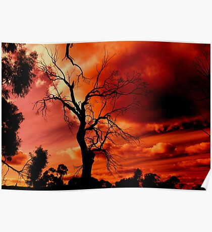 red sky at night Poster