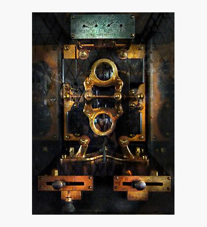 Steampunk - Electrical - The power meter Photographic Print