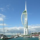Spinnaker Tower & Gunwharf Quays, Portsmouth, southern England. by Philip Mitchell