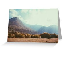 Mountains in the background V Greeting Card