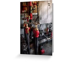 Steampunk - Plumbing - Turn the valve  Greeting Card