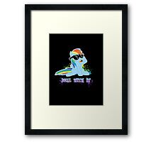 My Little Pony - MLP - Raindow Dash - Deal With It Framed Print