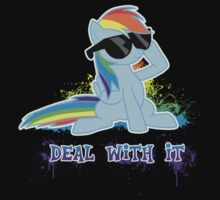My Little Pony - MLP - Raindow Dash - Deal With It Kids Clothes
