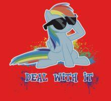 My Little Pony - MLP - Raindow Dash - Deal With It One Piece - Short Sleeve