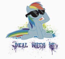 My Little Pony - MLP - Raindow Dash - Deal With It Kids Tee