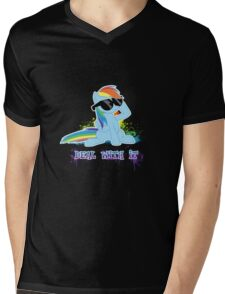 My Little Pony - MLP - Raindow Dash - Deal With It Mens V-Neck T-Shirt
