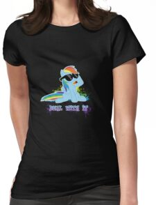 My Little Pony - MLP - Raindow Dash - Deal With It Womens Fitted T-Shirt