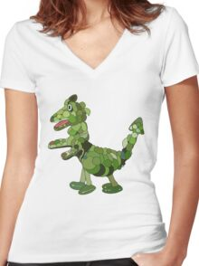 Soup Dragon Women's Fitted V-Neck T-Shirt