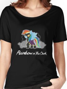 My Little Pony - MLP - Rainbow Dash - Shadowbolt - Rainbow in the Dark Women's Relaxed Fit T-Shirt