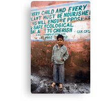 Every child and every plant must be nourished Canvas Print