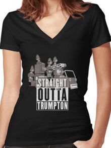 Straight Outta Trumpton Women's Fitted V-Neck T-Shirt
