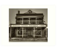 Morpeth Cottage Bakehouse in Sepia Art Print