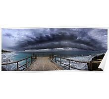 Massive storm front approching the West Australian coast Poster