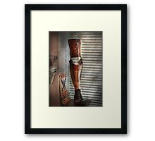 Doctor - A leg up in the competition Framed Print