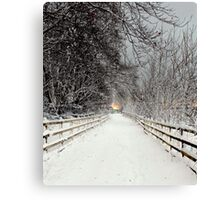 Capstone in Winter Canvas Print