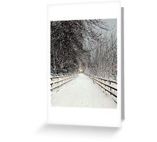 Capstone in Winter Greeting Card