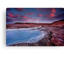 Where the red rocks meet the blue ocean, Kalbarri, Western Australia Canvas Print