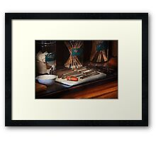 Doctor - Tools that make sound Framed Print