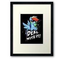 My Little Pony - MLP - Rainbow Dash - Deal With It Framed Print