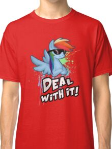My Little Pony - MLP - Rainbow Dash - Deal With It Classic T-Shirt