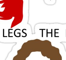 The Legs, The Nose and Mrs Robinson Sticker