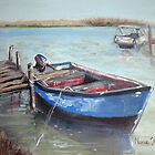 Boat On the Berg River, Velddrif by Marie Theron