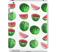 Hand drawn water color seamless pattern of water melons. iPad Case/Skin