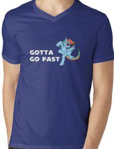 My Little Pony - MLP - Rainbow Dash - Gotta Go Fast Mens V-Neck T-Shirt