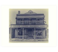 Morpeth Cottage Bakehouse in Antique Look Art Print